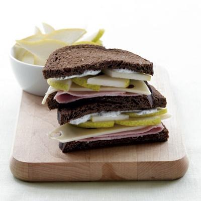 Ham Sliced Pear & Swiss Sandwich
