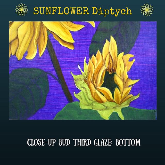 CLOSE UP Third color glaze BOTTOM Sunflower
