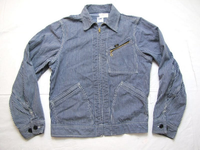 vintage workwear: Lee 98-B Hickory Stripe Work Jacket