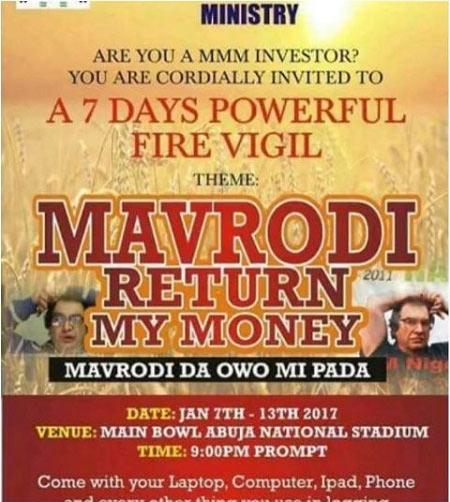 """Mavrodi Return My Money"": See crusade poster organized for MMM participants in Abuja"