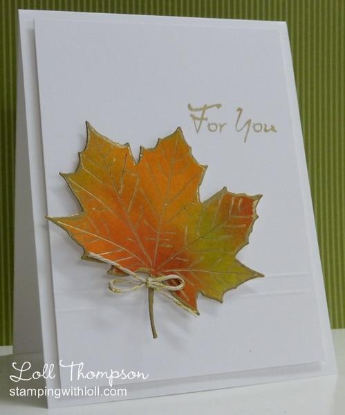Открытка из кленового листа