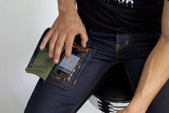 Invenções mais interessantes do mundo - Bolso prático para celular