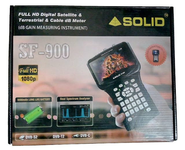 SOLID launched SF-900 dB meter for Cable TV, DVB-T2 and Satellite