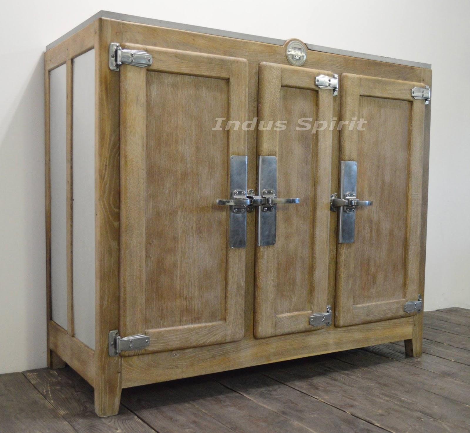 meuble frigo ancien. Black Bedroom Furniture Sets. Home Design Ideas