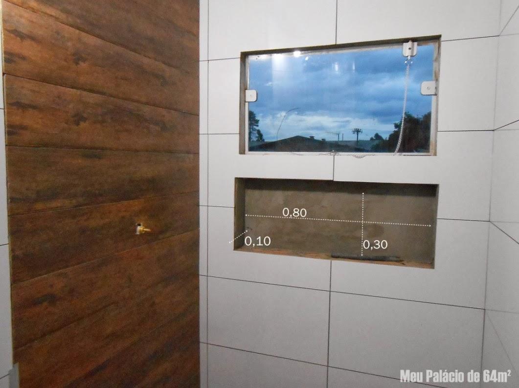 Construindo um Castelinho: Como fazer nichos de banheiro #356896 1061x793 Banheiro Com Nicho Como Fazer