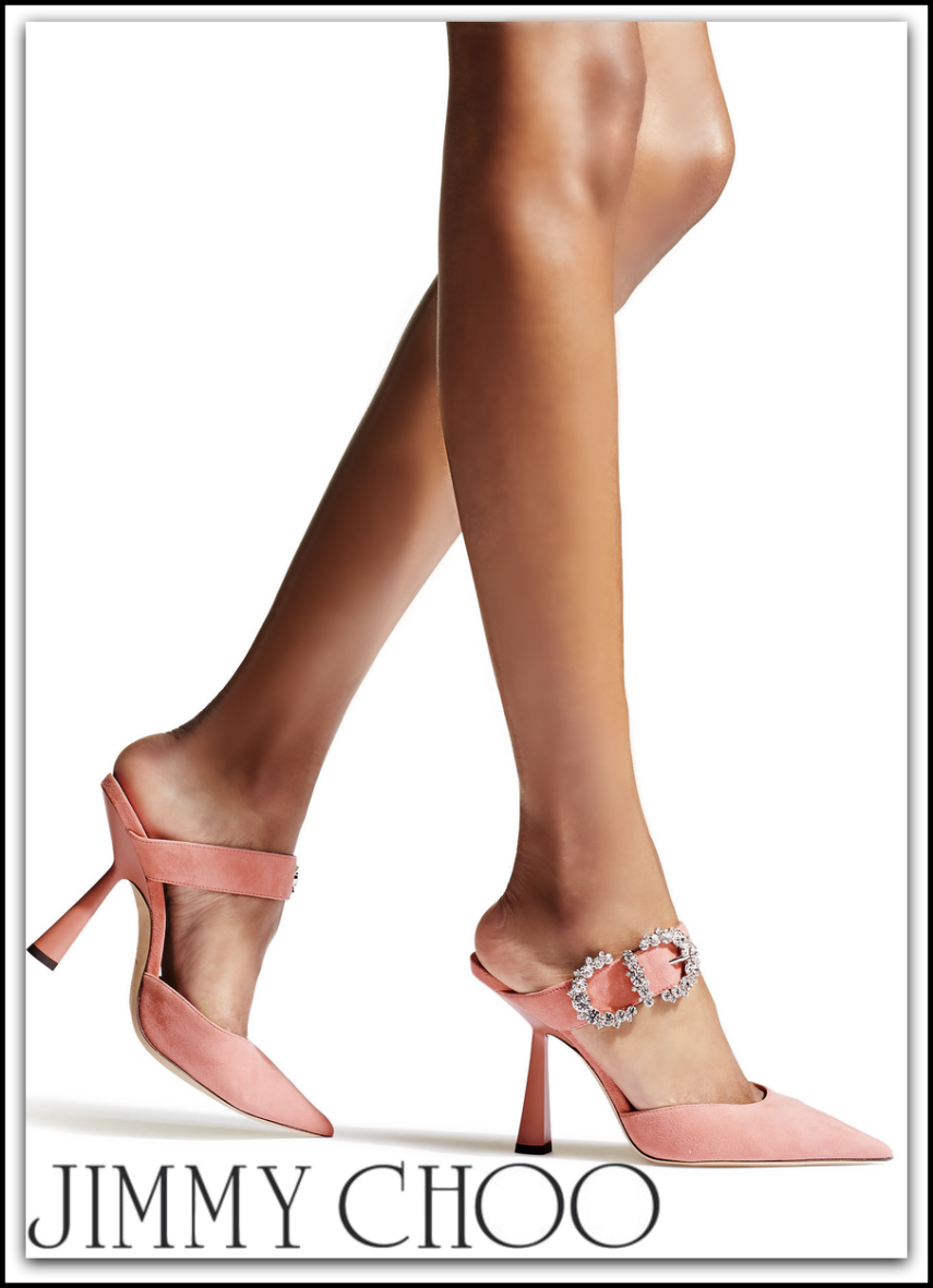 JIMMY CHOO MOKEY 100 PUMP IN PINK