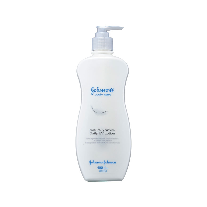 Johnsons Naturally White Daily UV Lotion 400 ml