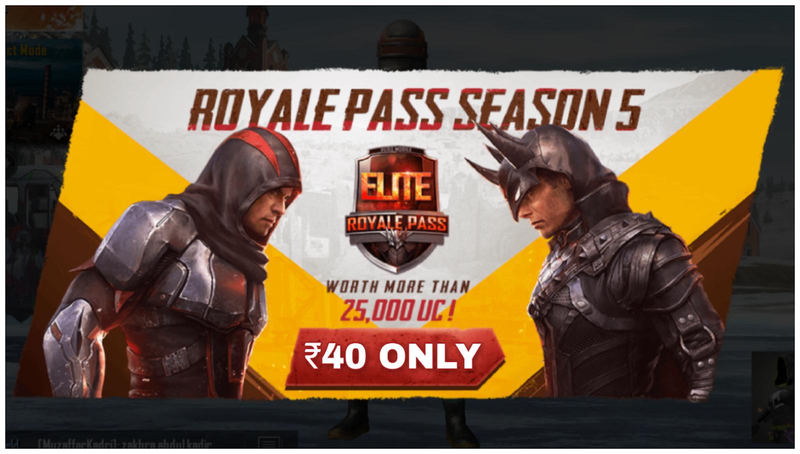 Free Royal Pass Season 5 PUBG Mobile   ₹40 Trick to Get Royal Pass
