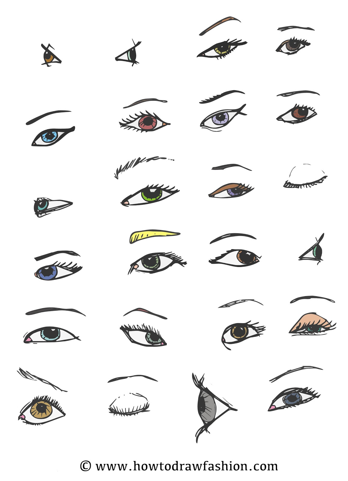 How To Draw Fashion Variations Of The Eye