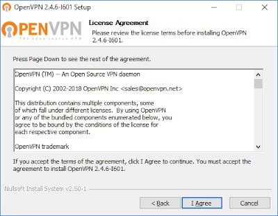 Мастер установки OpenVPN - лицензионное соглашение