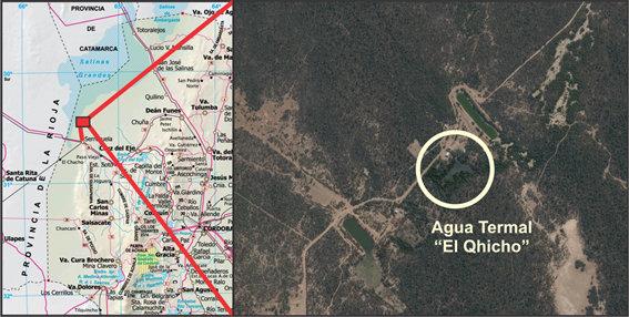 Ubicación geográfica de El Quicho, Provincia de Córdoba