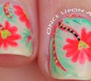 http://onceuponnails.blogspot.com/2015/08/fabric-inspired-flowers.html