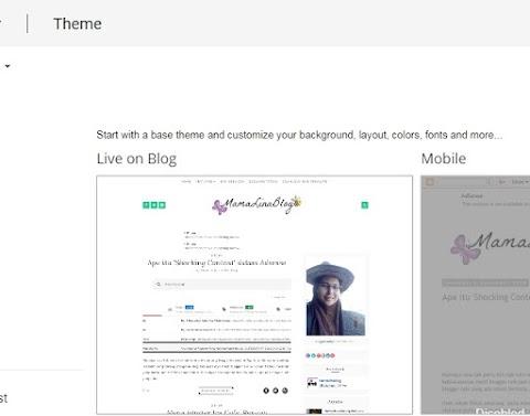 Tukar theme blog