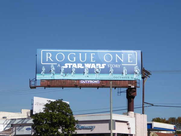 Rogue One A Star Wars Story billboard
