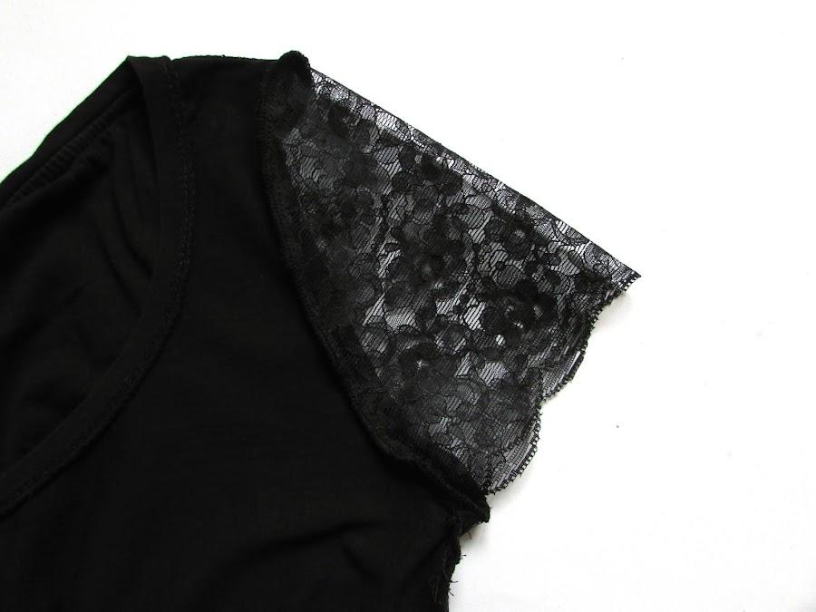 DIY Camiseta mangas encaje