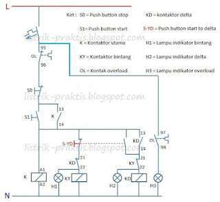 Diagram kontrol motor star delta manual