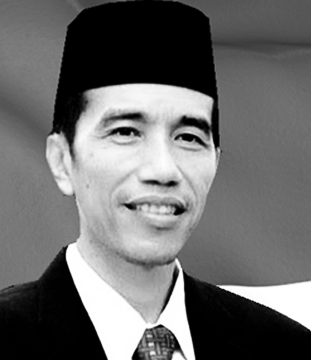 Presiden Ir Joko Widodo hitam putih