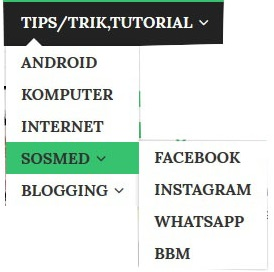 cara membuat menu dropdown