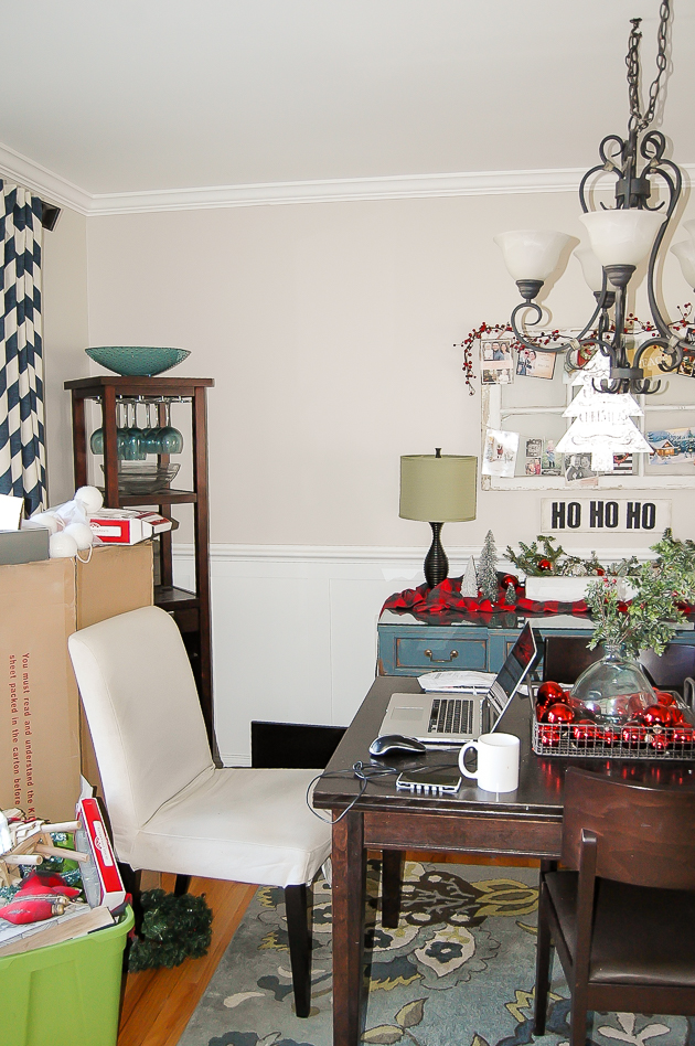 Real life Dining room Christmas home tour