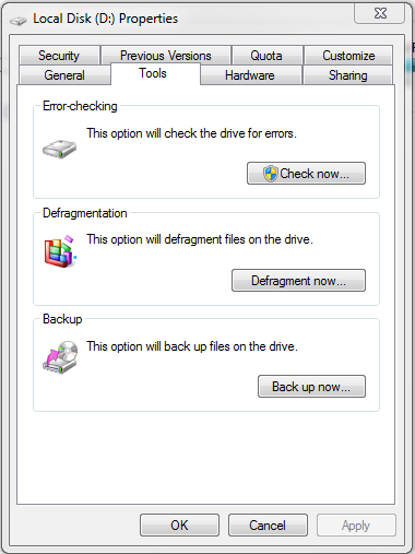 Defragment Your HardDrives by Time to Time