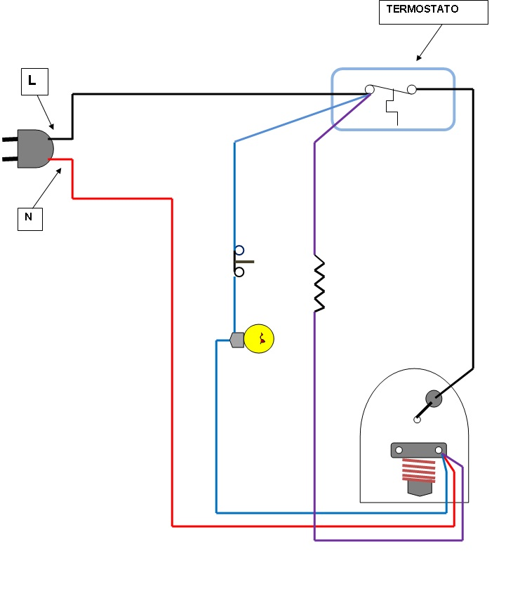 diagrama electrico termostato aire acondicionado