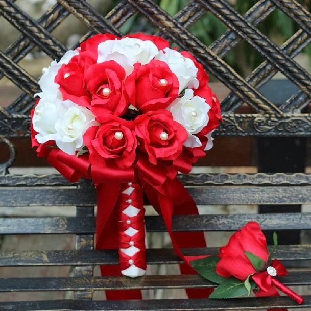 Bouquets y Ramos de Bodas Color Rojo, parte 7