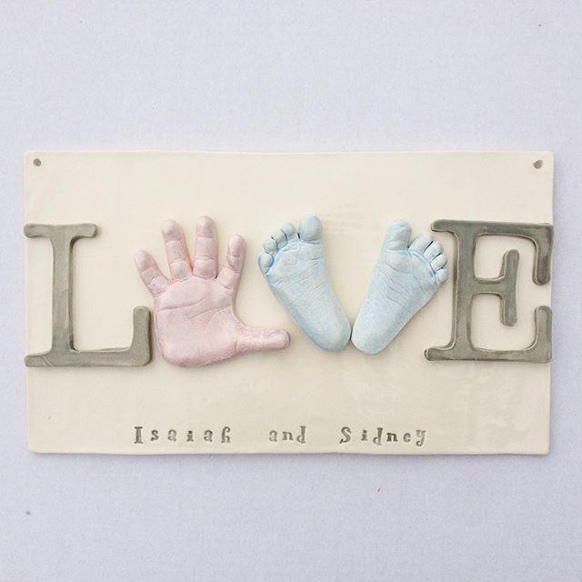 thebabyhandprintcompany sibling keepsake clay ceramic art ceramic