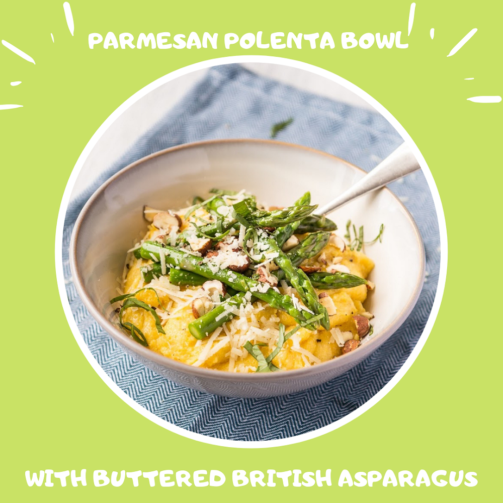 Parmesan Polenta Bowl With Buttered British Asparagus