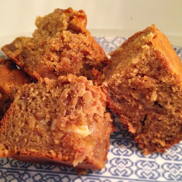 Peanut Butter and Banana Blondies