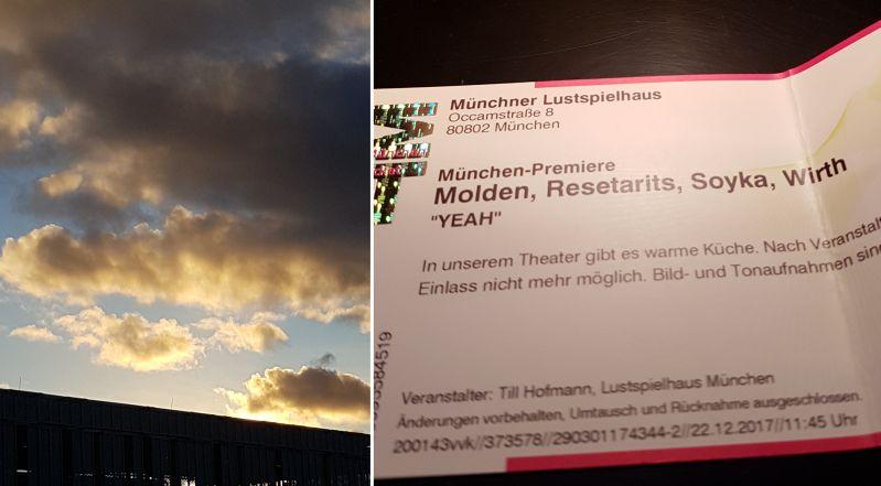 Sonnenuntergang und Resetarits in München