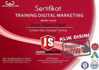 sertifikat digital marketing, kursus digital marketing