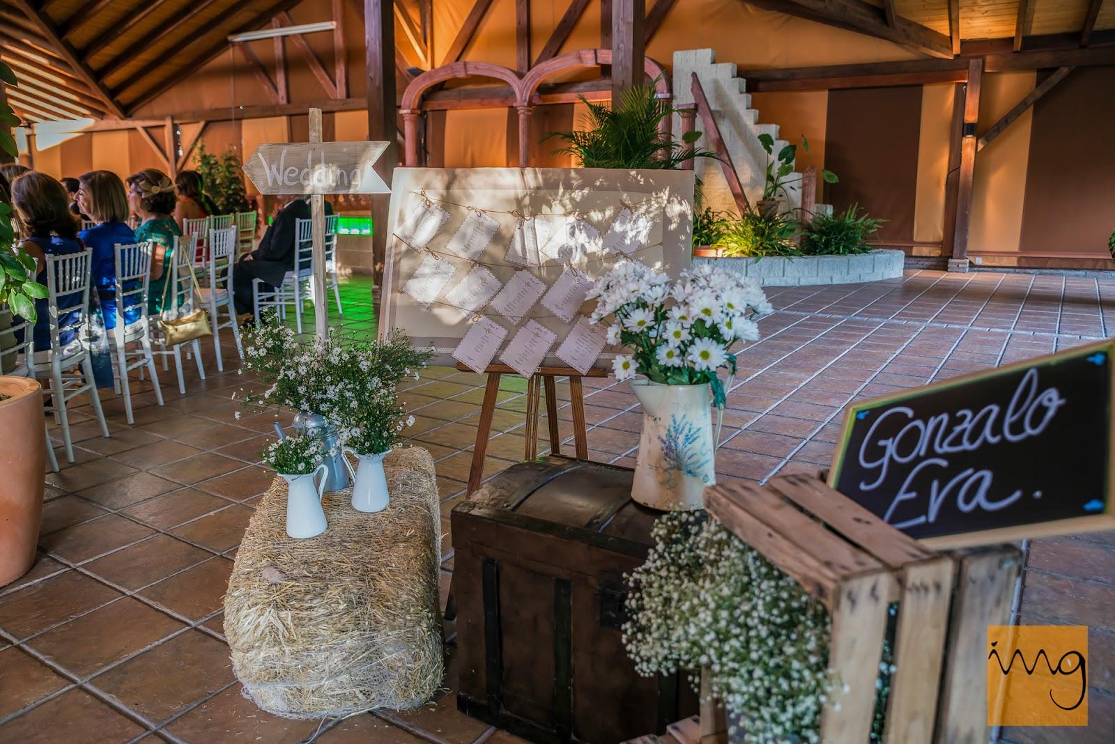 Fotografía de la decoración en su boda