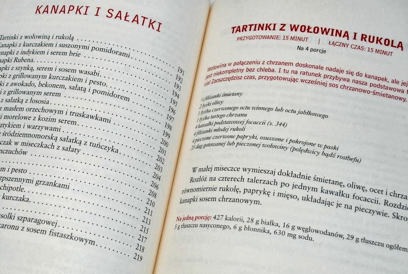 Przykładowy przepis oraz spis receptury rozdziału