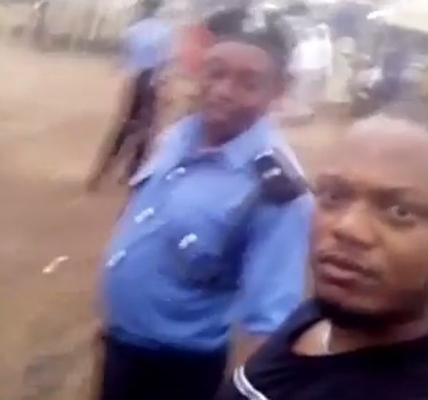 Instagram user records policemen beating him up for refusing to give them money