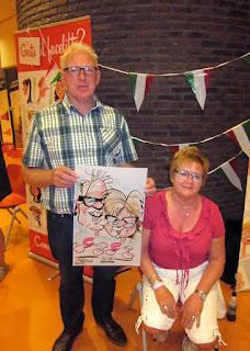 karikatuur tekening man en vrouw