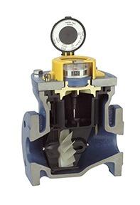 cutaway view turbine flowmeter