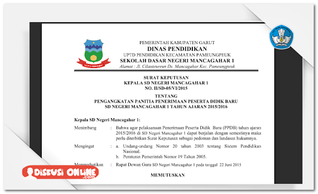 Aplikasi Administrasi Surat Kepala Sekolah Lengkap Terbaru 2016