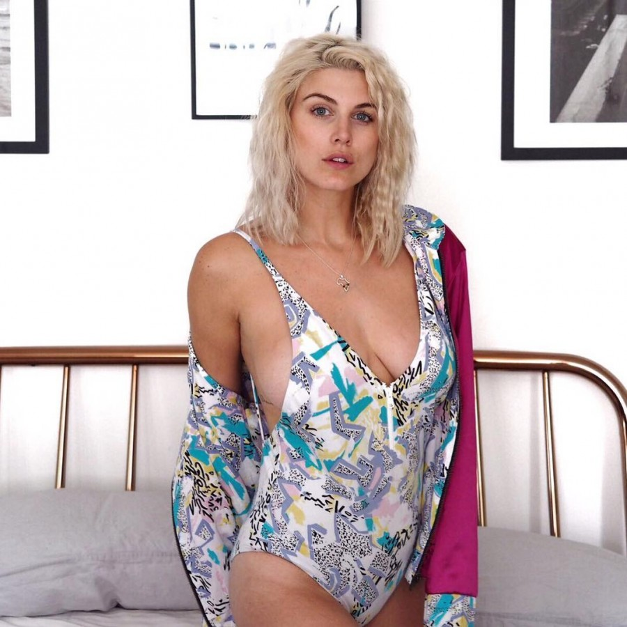 Ashley James poses in skimpy lingerie amidst her battle with body confidence