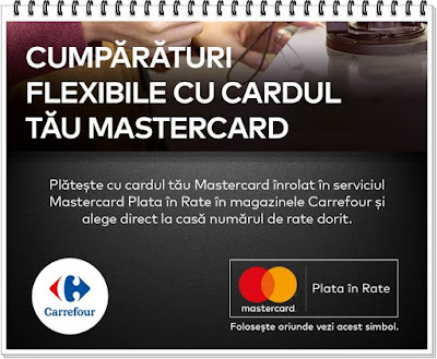 regulament conditii plata in rate mastercard in magazinele carrefour