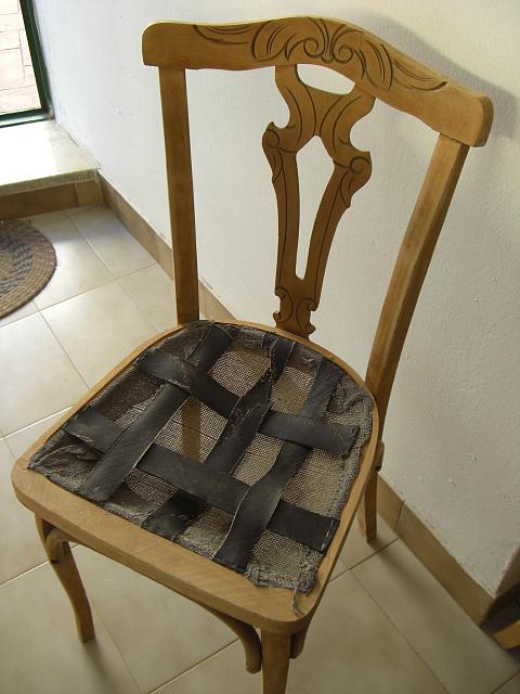 diy silla restaurada