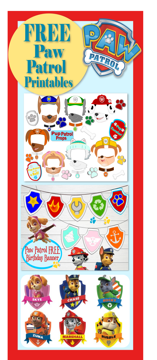 photo about Free Printable Paw Patrol Badges identified as Paw Patrol Birthday- Bash- Puppy-tastic Tips! - Abbi Kirsten