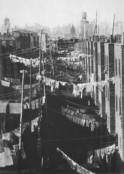Secando la ropa, New York (1934)