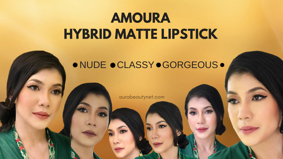 Amoura Lipstik Koleksi Klasik- Hybrid Matte Lipstick