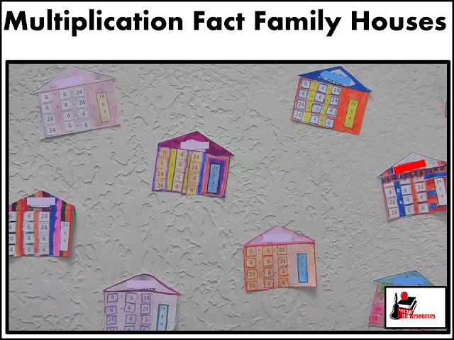 Multiplication and division fact family houses - a great way to introduce students to the inverse relationship between multiplication and division - created by Raki's Rad Resources.