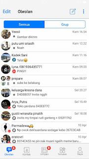 Tema BBM MOD Like iOS v3.3.6.51 Apk 4