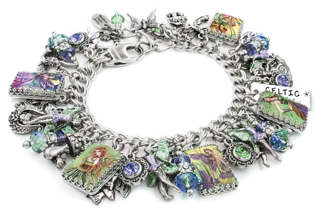 irish, celtic, handmade, charm bracelet