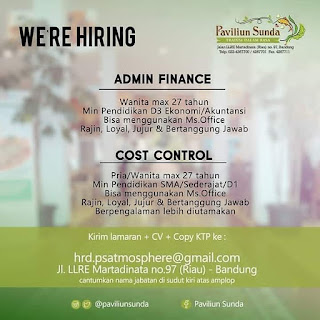 Paviliun Sunda Admin Finance Cost Control Bandung