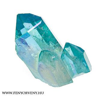 Kristálygyógyászat/Gyógyító kövek: Aqua Aura Kvarc /Aqua Aura Kristály/