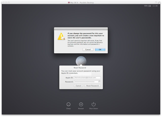 Reset Mac OS X Root or admin password using Apple ID