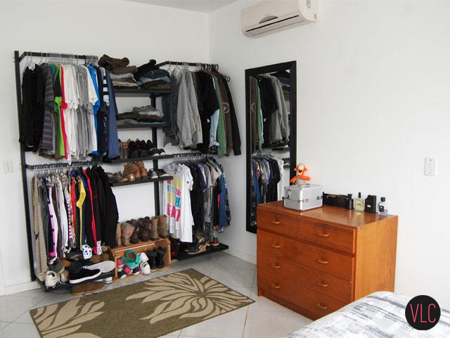 Meu closet as desvantagens do armário aberto Vida Louca